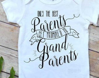 Pregnancy Reveal shirt, Promoted to Grandparents, Baby Announcement, Baby Reveal shirt, Pregnancy Announcement, New Grandparents, Expecting