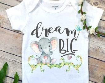 Dream Big, Elephant Theme, Newborn Baby Gift, Baby Shower Gift, Niece Gift, Nephew Gift, Baby Elephant, Gift From Auntie, Dream Big Little