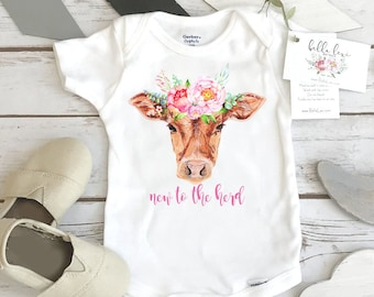 Baby Shower Gift, NEW TO the HERD, Country Baby, Farm shirt, Cowgirl, Cow Onesie®, Farm Baby Gift, Cute Baby Clothes, Cow Theme, Farm baby