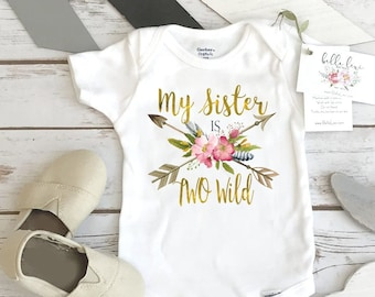 Two Wild Birthday, My Sister is TWO Wild, Two Wild, Wild Birthday, Sister Birthday, Girl Birthday, Sister Shirts, Second Birthday, Two Wild