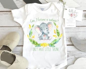 Elephant Onesie®, Baby Shower Gift, Cute Baby Gift, Elephant Theme, Newborn Baby Gift, Elephant Party, Funny Baby Gift, Niece gift,Nephew