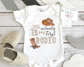 Cowboy Onesie®, First Rodeo, Country Baby, Pregnancy Reveal shirt, Rodeo shirt, Baby Shower Gift, Country shirt, Country Baby Gift, Rodeo