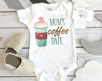 Coffee Onesie®, Mom's Coffee Date, Baby Shower Gift, Cute Baby Gift, Coffee Shirt, Niece Gift, Newborn Baby Gift, Coffee Baby, Coffee Mom