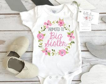 ec47327cd Big SISTER Shirt, Promoted to Big Sister, Big Sister Onesie®, Pregnancy  Reveal, Baby Announcement, Big Sister To Be, Big Sister Reveal Shirt