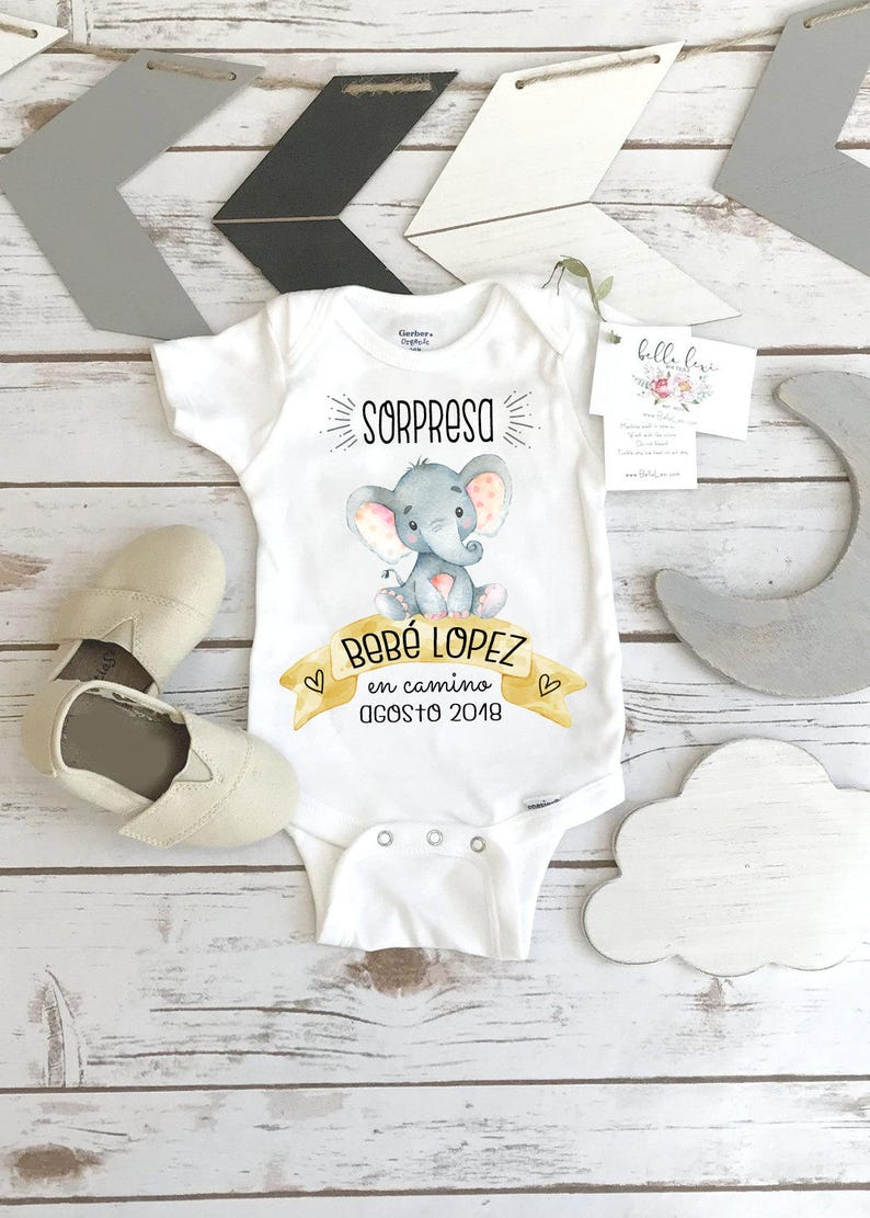 Spanish Pregnancy Reveal Abuelitos Baby Gift to image 0