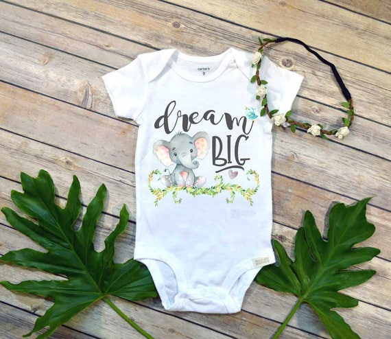 Dream Big, Elephant Theme, Newborn Baby Gift, Baby Shower Gift, Niece Gift, Nephew Gift, Baby Elephant, Gift From Auntie, Dream Big Little