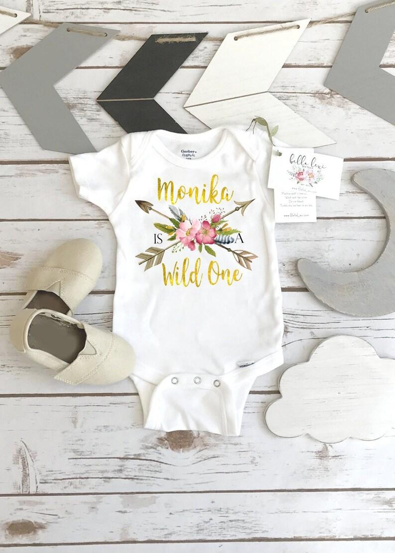 First Birthday Wild One Girl Birthday Onesie® Personalized image 0