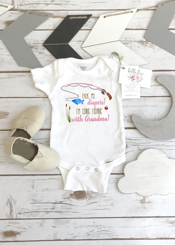 New baby gift baby shower gift pack my diapers going fishing new dad gift baby boy gift
