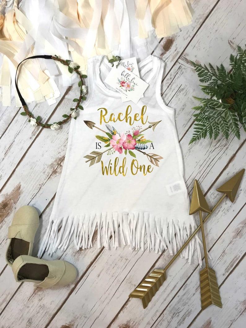 cbb5bf71060d First Birthday Wild One Girl Birthday Dress Personalized