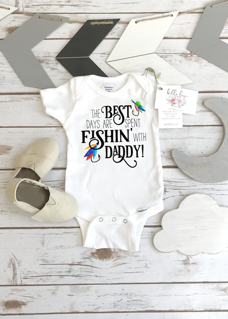 5c434ec17 Fishing Onesie® The Best Days are Spent Fishing with Daddy | Etsy