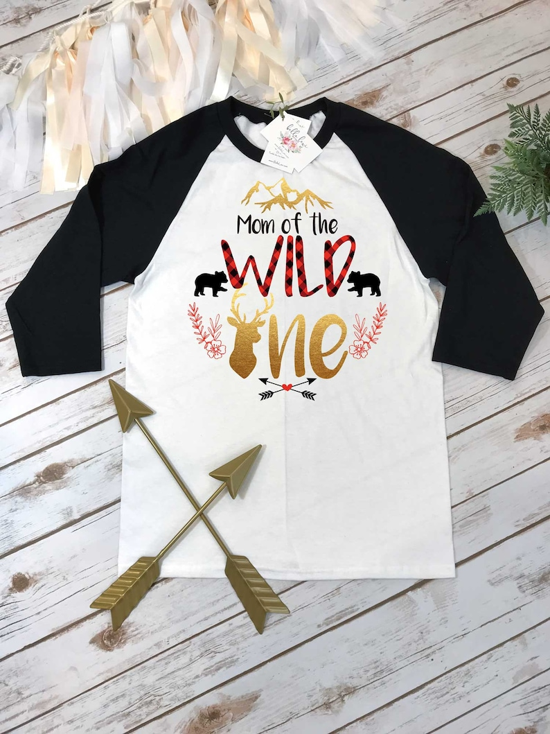 Mom of the Wild One Wild One party Buffalo Plaid Party Wild image 0