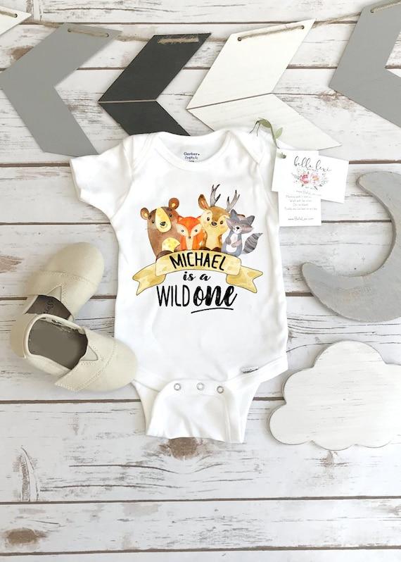 Tribal Style Onesie Boho Baby 1st Birthday 331 First Birthday Onesie\u00ae in Gold Cute Birthday Outfit Cute Baby Clothes Woodland Deer