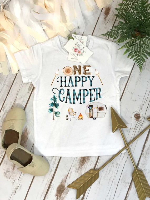 First Birthday Shirt Camping 1st Buffalo