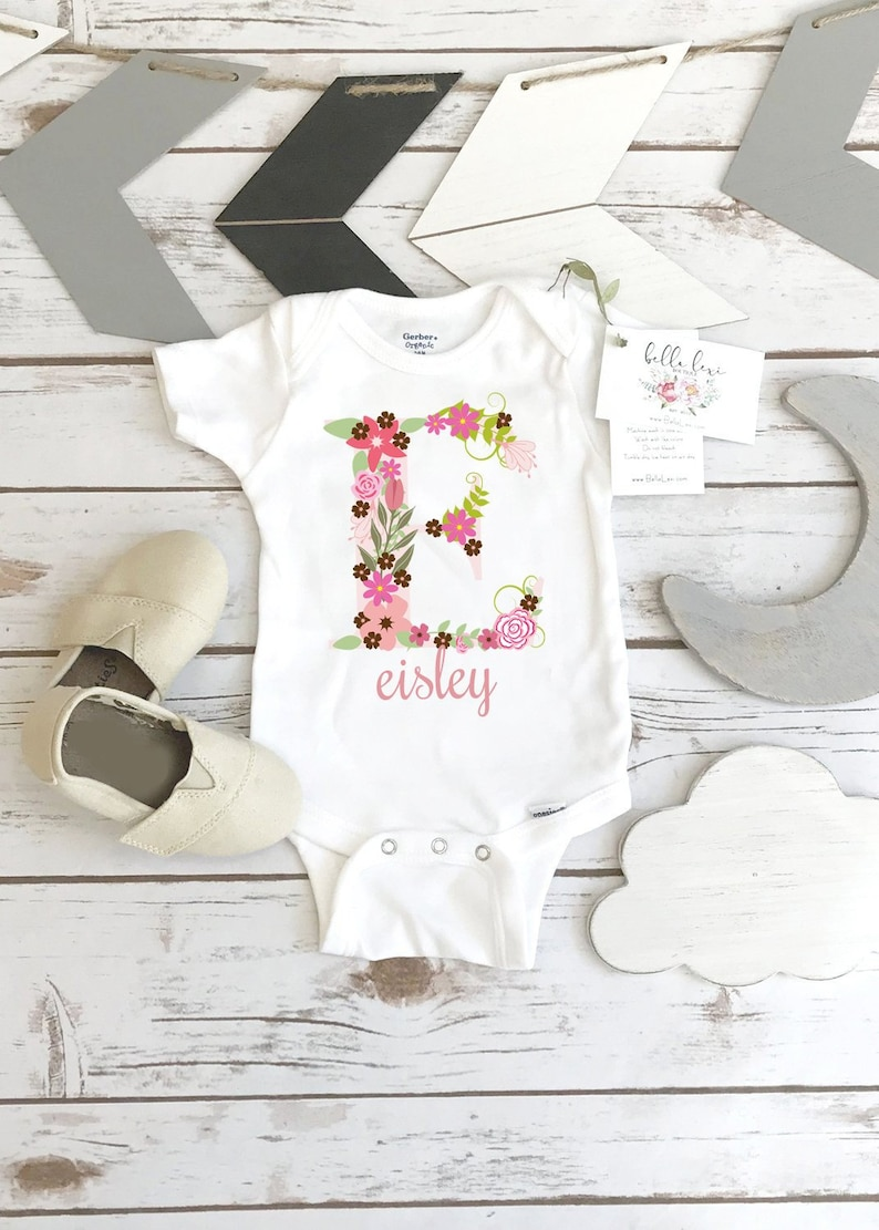 Personalized Baby Gift Baby Girl Gift Personalized Onesie® image 0