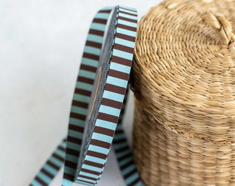 Weaving ribbon color mix ringed woven stripes chocolate mint