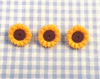 """3 buttons """"Sunflower"""""""