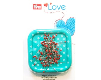 PRYM LOVE magnetic needle cushion with pins