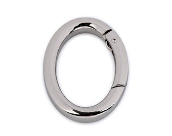 Ring Carabiner Oval for keys/pockets Silver color