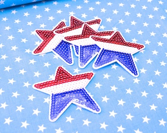 Star patch blue white red
