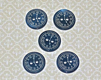 "5 Mother of pearl Buttons ""Tiktak"""