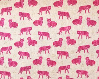 "Andover ""Tigers"" linen/cotton"