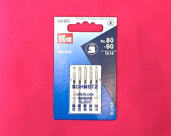 PRYM sewing machine needles Overlock 80-90