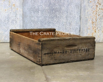 FREE SHIPPING -- Vintage Wood Crates - VINEYARD Crate - Thousands in Stock!