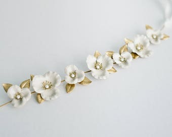 Flora Sash, Wedding Sash, Bridal Belt, Flower Sash, Leaf Sash, Leaf belt, Bridal sash, flower belt, boho sash, Wedding belt, bohemian #139