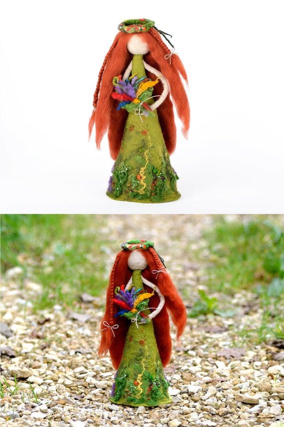 Fantaisie Fée Décoration De Jardin Fleur Nymphe intérieur/extérieur figurines coloré Décorations de jardin Statuettes, décorations