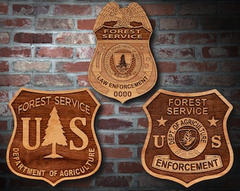 US FOREST SERVICE USDA Department of Agriculture Mini Badge CUFF LINKS Cufflinks