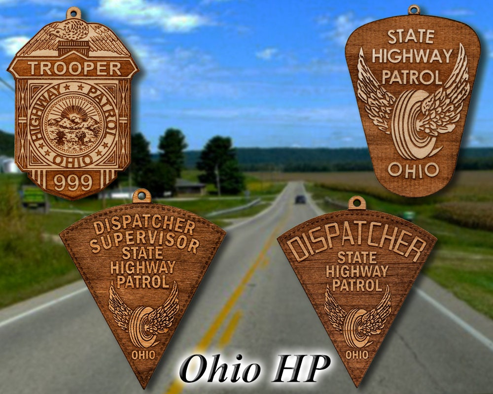 Personalized Wooden Ohio State Police Badge Or Shoulder Patch ...
