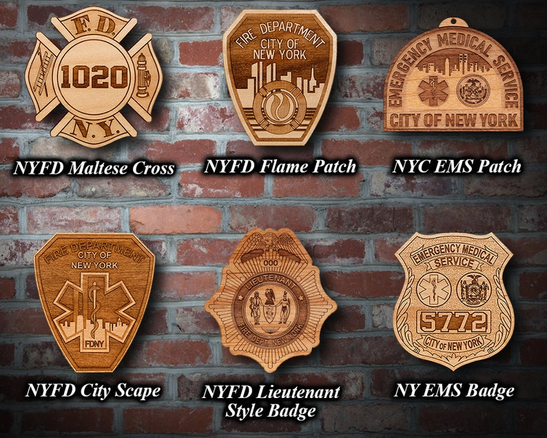 Personalized Wooden New York City Fire Department Plaques