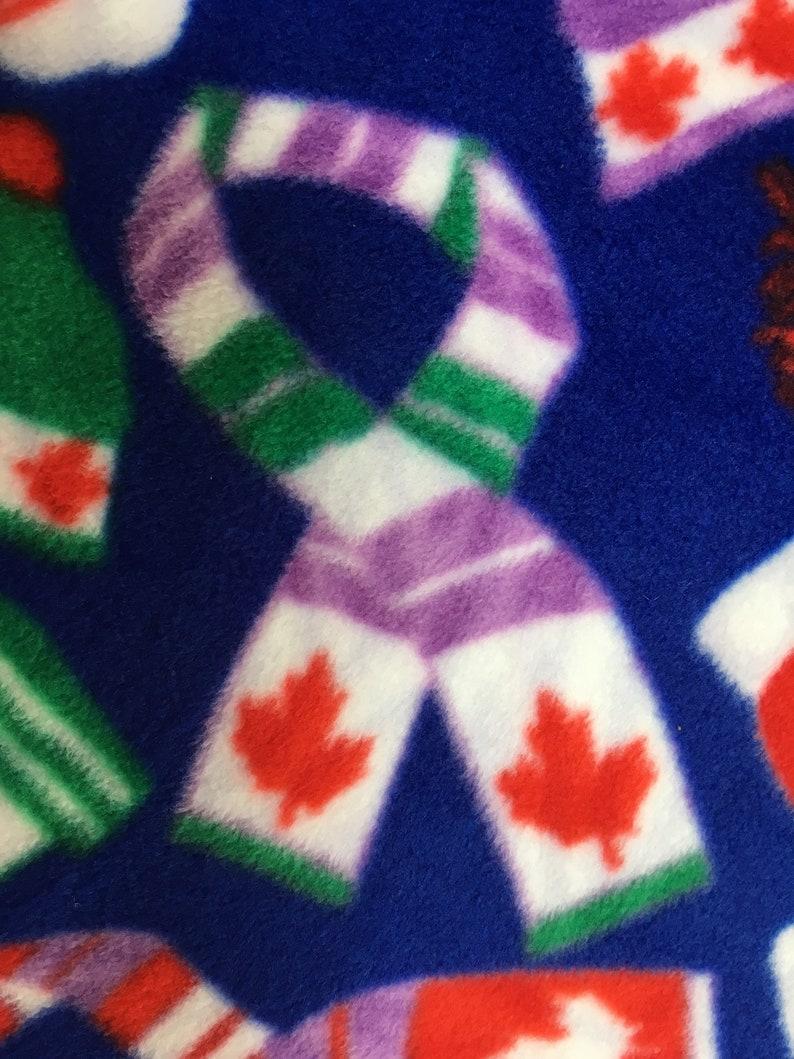 e329f68854e CANADA CANADIAN Maple Leaf Flag Print Fleece FABRIC Hats | Etsy