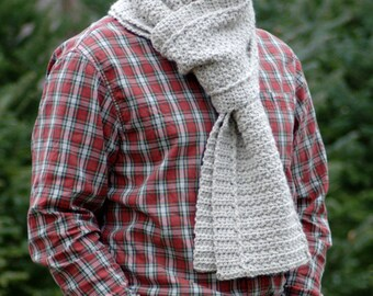 Crochet Pattern - Mens Crochet Scarf Pattern Winter DIY Scarf Mens Crochet Pattern Easy Crochet Scarf - Winter Path Scarf P141