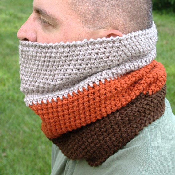 Mens Cowl Pattern Mens Crochet Cowl Scarf Pattern Neck Warmer Etsy