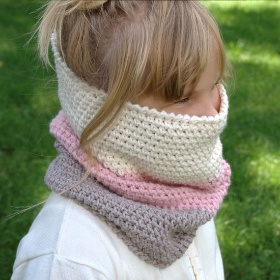 Crochet Pattern Child Cowl Pattern Neck Warmer Pattern Etsy