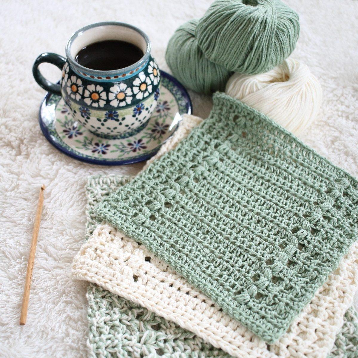 Crochet Pattern - Hand Towel Pattern - Crochet Dishcloth Pattern ...
