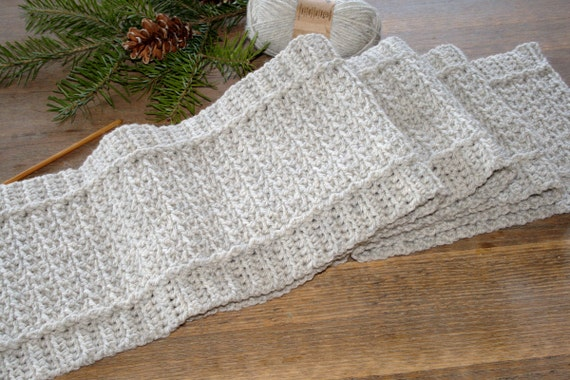Scarf Pattern Mens Crochet Scarf Pattern Diy Gift Idea Womens Etsy