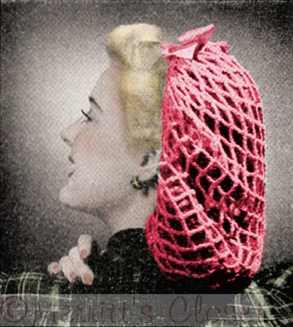 Favorite Hair Snood 1942 Hair Accessory Net Vintage Etsy