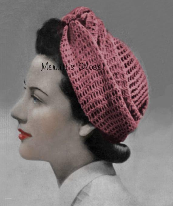 Turban Wrap Head Scarf 1940 s Wartime Vintage Pattern  ecb25d52f4d