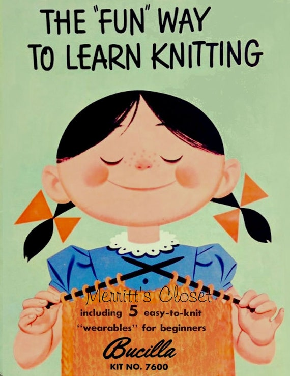 Learn to Knit Copy of Vintage 1950 Book Fun Way to Learn Knitting Great for  Beginners Instant DOWNLOAD PDF