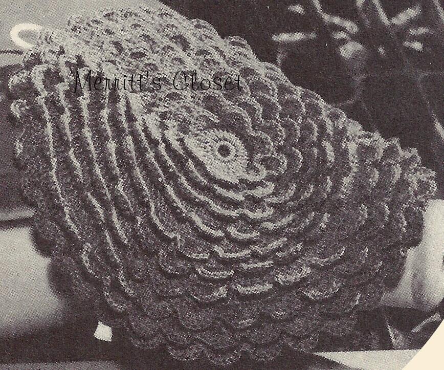 Rose Pedal Potholder 1945 Design Vintage Crochet Pattern Etsy