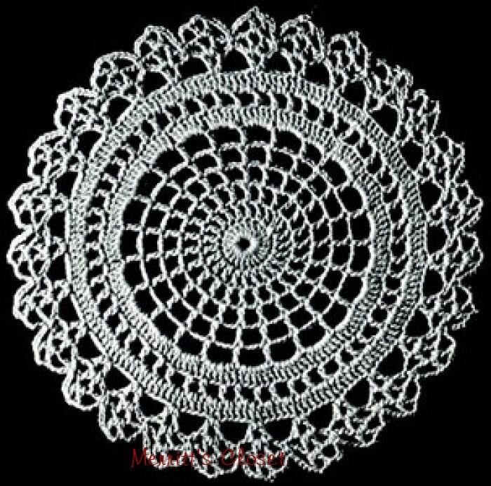 Spider Web Doily Vintage Crochet Pattern Instant Download Etsy