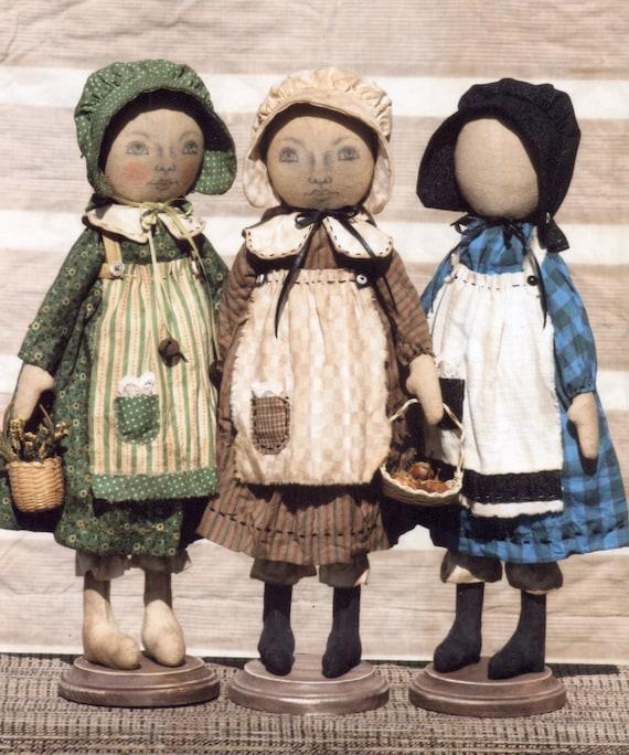 Primitive Muster frühen Stil stehend Siedler Schwestern