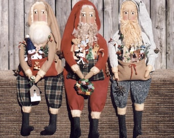Primitive PATTERN Santa Folk