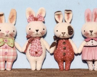 A Primitive E-PATTERN Sew So Cute Bunnies