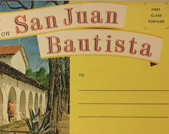 Vintage Postcard Book: Greetings from Old Mission San Juan Bautista