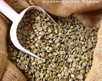 5 POUNDS green coffee beans - Specialty Grade Green Beans - choose from a wide varieity of green beans