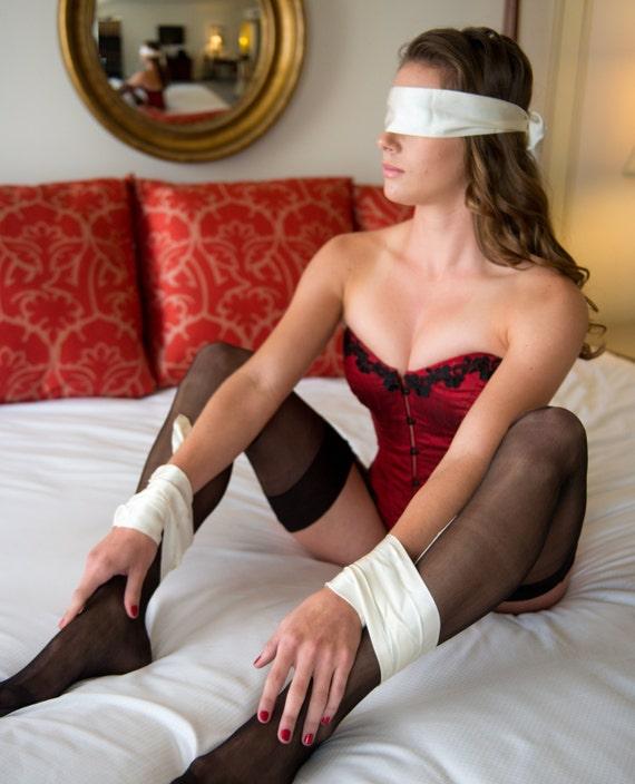 Tie Bedpost Red Silk Panties Pic