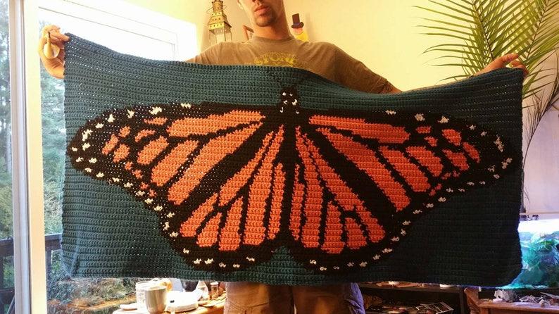 Monarch Butterfly Crochet *Pattern Only*